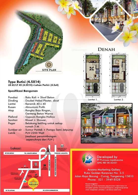 LIANIE 0819 0629 8988 GREEN ARYANA KARAWACI brosure rumah Karawaci Tangerang