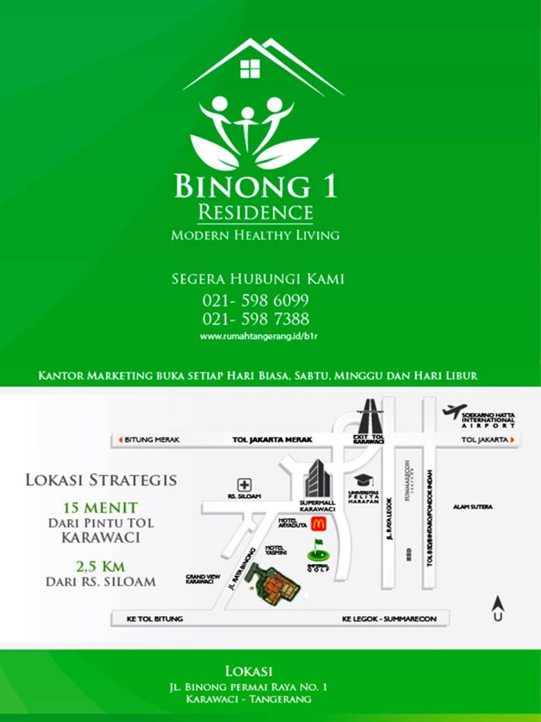 brosur dan harga jual Binong 1 Residence Karawaci Tangerang