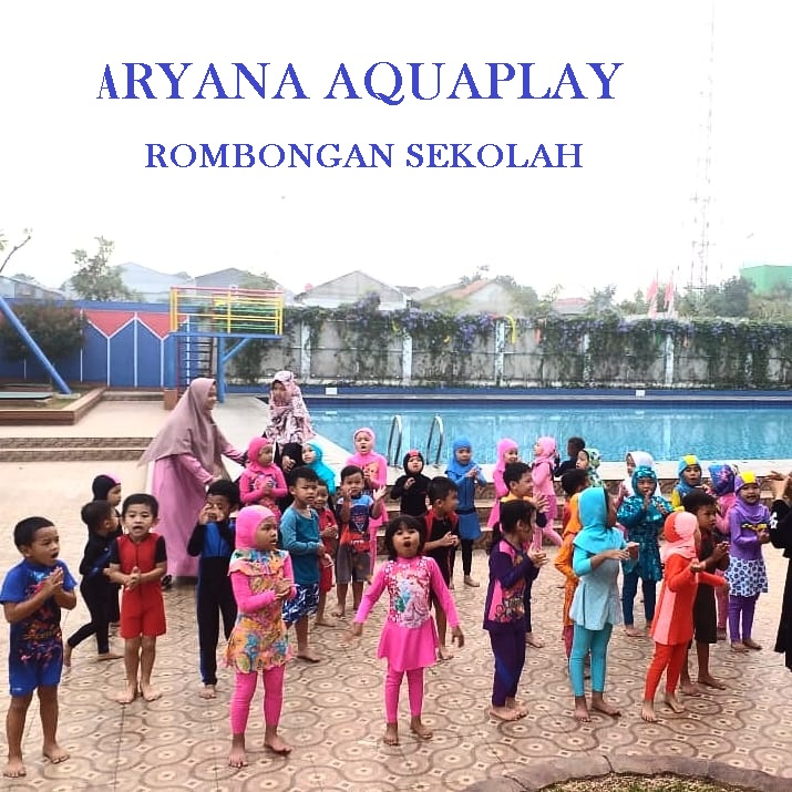 rombongan sekolah berenang dan olah raga di ARYANA AQUAPLAY